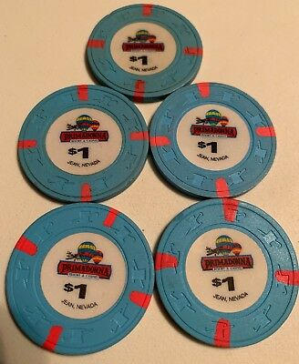 Primadonna Hotel Lot of 5 $1 Casino Chip Jean Nevada 2.99 Shipping
