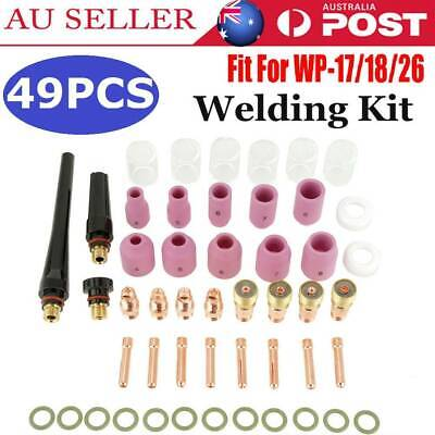 49X Gas Lens TIG Welding Torch Stubby  #10 Pyrex Glass Cup Kit For WP-17/18/26