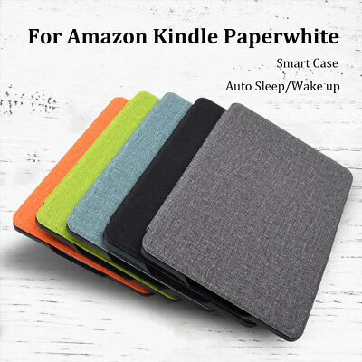 Ultra Slim Smart Leather Cover Case Fabric Texture For Kindle Paperwhite 1/2/3/4