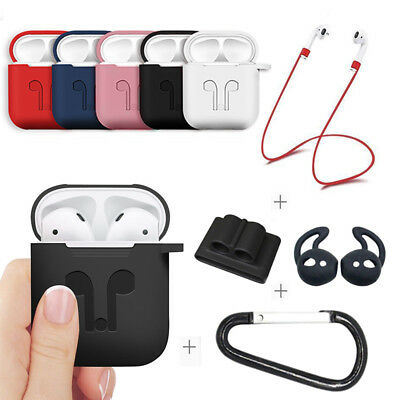 Silicone Case Cover & Strap Holder For Apple Airpod Air Pod Airpods