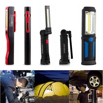 LED COB Rechargeable Magnetic Torch Inspection Lamp Cordless Work Light 3 Types