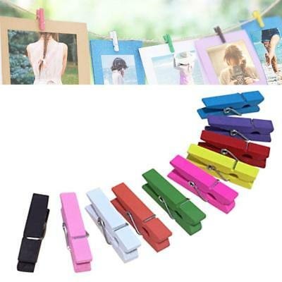Colorful Wooden Photo Paper Clips Clothespin Cards Craft Clip Supply