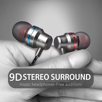 HIFI Stereo Headset 3.5mm In-Ear Earphone Super Bass Earbuds Headphone Wired Mic