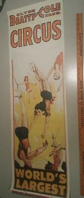 1965 Clyde Beatty Cole Bros  Circus Poster Flying Trapeze