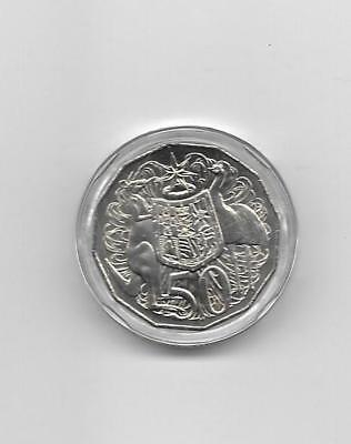 2016 Australian 50 cent coin in a capsule - 50 years of Decimal Currency