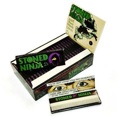 St*oned Ninja Unbleached Rolling Papers 78*44mm 25 Booklets=1000 leaves smoking