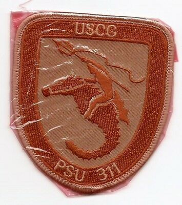 "United States Coast Guard (USCG) patch ""PSU 311"" 3-5/8 X 3-1/4 inch Brown/Beige"