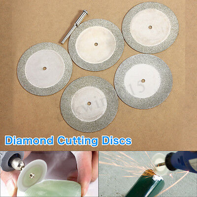 5pcs 50mm Diamond Cutting Discs & Drill Bit for Rotary Tool Glass Cutting Blades