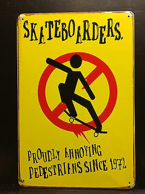 Skateboarders  Since 1972 Vintage-Retro Style Metal Wall Sign  20X30 Cm