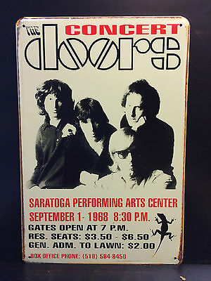 The Doors 1968 Concert Poster Vintage Retro Style Small Metal Sign  20X30 Cm