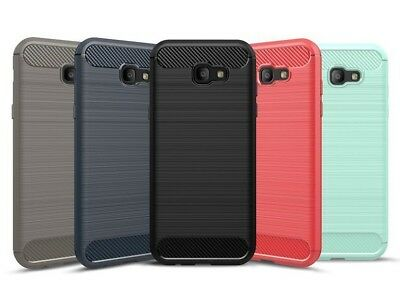 Carbon Fibre For Samsung Galaxy Phones Rugged TPU Gel Case Silicone Skin Cover
