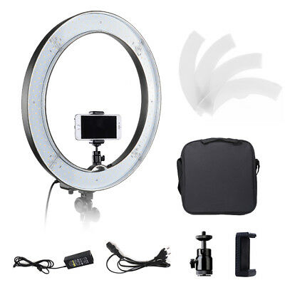 """18"""" 55W Dimmable LED Ring Light Photo Video Lighting Kit for Makeup Youtube Live"""
