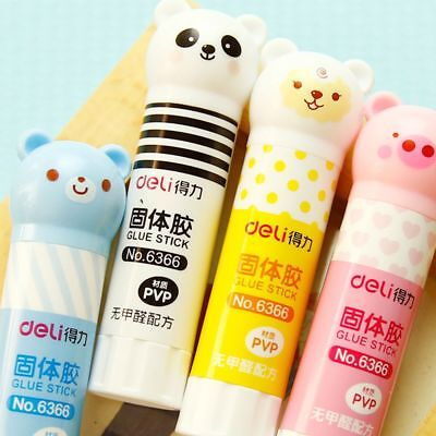 1PC Panda Cartoon Animal Pattern Strong Adhesive Glue Stick Students Supplie