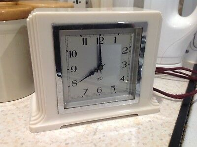 WHITE  SMITHS Sectric Electric Mantel Clock, Spares/Repair  No Plug Old Wire