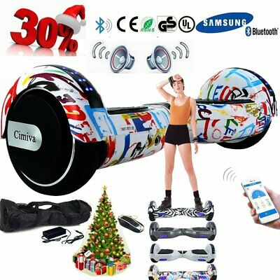 """6,5"""" Bluetooth Skateboard Self Balance Scooter Hoverboard Sumsung-Akku + LED RE"""
