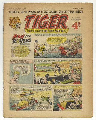 Tiger 21st June 1958 (Roy of the Rovers, Rockfist Rogan, Olac the Gladiator)