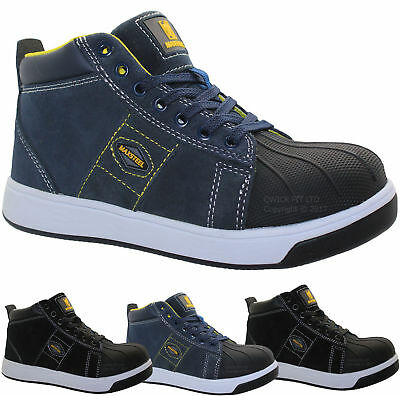 Mens Safety Steel Toe Cap Work Boots Leather Hiking Maxsteel Trainers Shoes Size