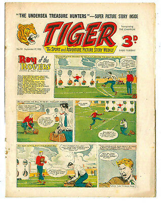 Tiger 17th Sept 1955 (Roy of the Rovers, Rockfist Rogan, Lightning Lorant)