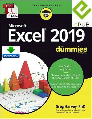 Excel 2019 for Dummies - read on PC, PHONE or TABLET - fast PDF Download
