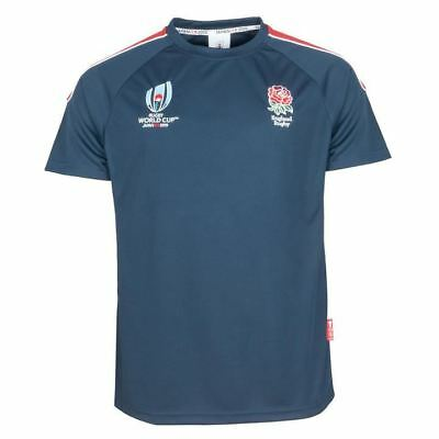 Rugby World Cup 2019 England Men's Panel Poly T-Shirt | Navy