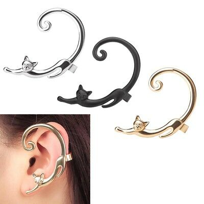 1PC Fashion Helix Cat Bite Ear Cuff Fake Clip On Wrap Cartilage Earings Jewelry