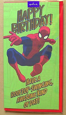 Spiderman Birthday Greeting Card 4 5 6 7 Son Grandson Cousin Brother