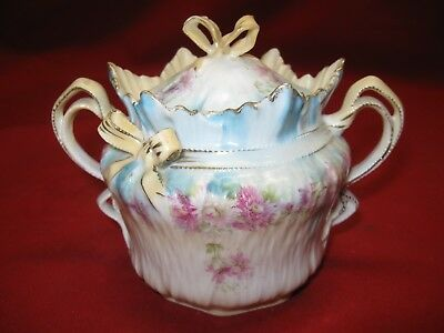 Beautiful Vintage Victorian Style Porcelain Sugar Bowl / Trinket Bowl
