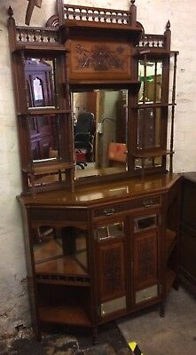Beautiful Edwardian Chiffonier With Bevelled Mirror Panels, Drawer & Cupboard