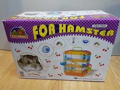Hamster Cage 3 Story With Accessories Perfect For Hamsters And Gerbils PINK