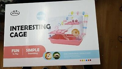 Interesting Cage for Small Animals (Hamster) & Mouse - PINK M032B