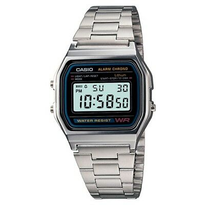 Casio A158-1 *new In Box* Digital Watch 30M Water Resistant Alarm