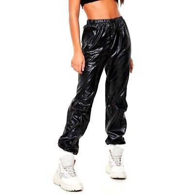 c1ed37a437bf3 unisex glanz joggers shiny lads cal track pants new sport nylon wet look