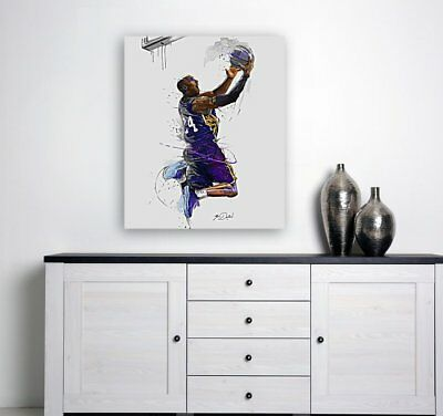 KOBE BRYANT POSTER Basketball nba LA lakers print canvas poster wall art