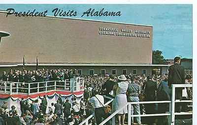 President Kennedy Visits Muscle Shoals Alabama in 1963, Unposted- Postcard