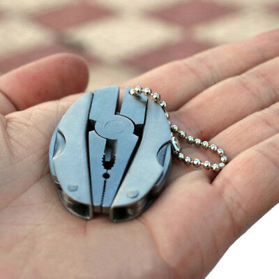 Folding Pocket Tool Plier Mini Keychain Multi Function Screwdriver Keyring