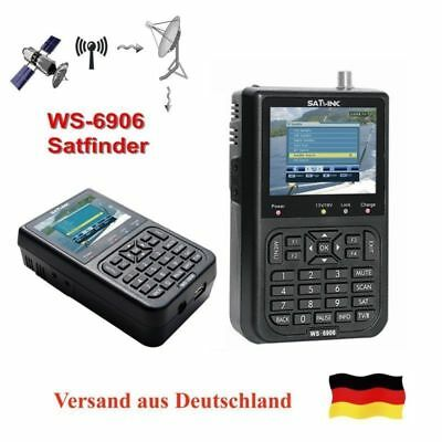 SATLINK WS-6906 DVB-S FTA Digital LCD Data Satellite Meter Signal Finder EU Plug