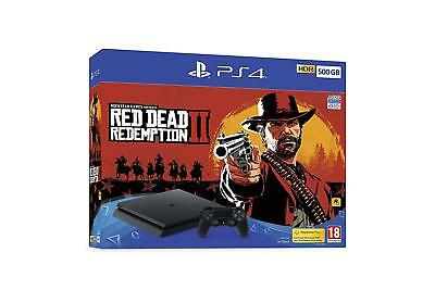 Console Ps4 Sony PlayStation 4 500GB Console (Black)+ Red Dead Redemption 2