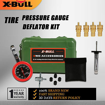 X-BULL Tire Pressure Gauge 70 PSI & Tire Deflators Adjustable Kit