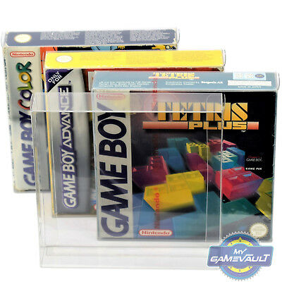 10 x Box Protector for Game Boy Color Advance Gameboy 0.4mm Plastic Display Case