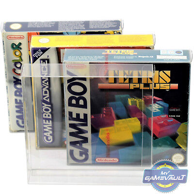 10 x Gameboy Box Protector For Game Boy Color Advance 0.4mm Plastic Display Case