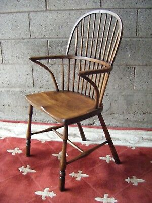 Antique Georgian Windsor Stick back Arm chair. Thames valley.