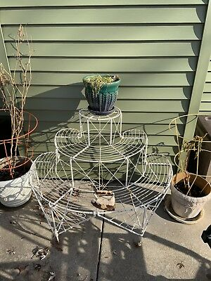 Antique Victorian Wire work Plant Stand Garden