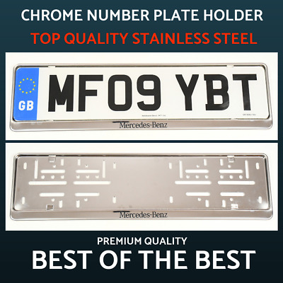 1 x Luxury Chrome Stainless Steel Number Plate Holder Surround for Mercedes