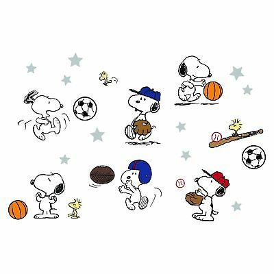 Bedtime Originals Snoopy™ Sports Wall Decals/Appliques - Blue, White, Animals
