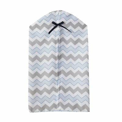 Bedtime Originals Mod Monkey Blue/Gray/White Chevron Diaper Stacker