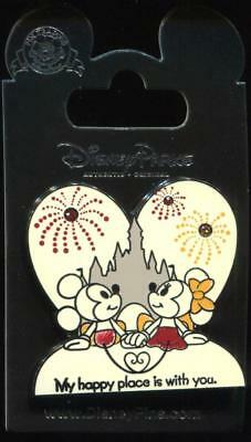 Valentine's Day Minnie and Mickey My Happy Place is With You Disney Pin 120426