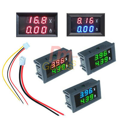 Digital DC 0-100V 10A Dual LED Display Voltage AMP Power Voltmeter Ammeter