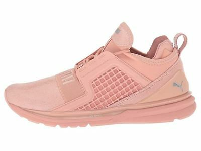 61d4b303b83 Nwt Women s Puma Ignite Limitless Peach Pink Beige Suede Sneakers Shoes ...