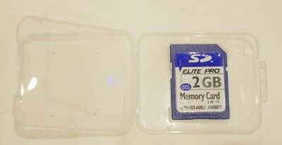 2Gb Sd Card 100% Genuine Elite Pro For Camera, Tablet,sat Nav, Gps Etc, Fast Del