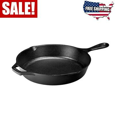 Cast Iron Skillet Lodge 10.25 Inch Pre-Seasoned Stovetop Oven Use Made In USA